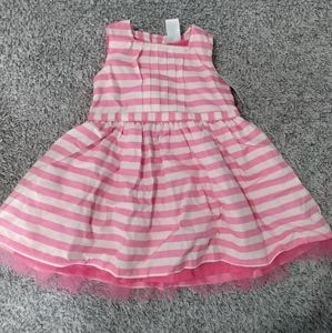 Carter's baby girl pink and white dress